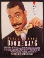 Magazine Ad For Movie Boomerang, Eddie Murphy, Player Who's About To Be Played, 1991
