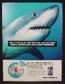 Magazine Ad For Fosters Beer, Great White Shark, Makes Australians Such Good Swimmers, 1994