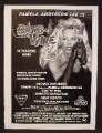 Magazine Ad For Barb Wire Movie, Pamela Anderson, 1996, 8 1/8 by 10 7/8