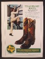 Magazine Ad For Texas Brand Boots, Cowboy Boots, 1980, 8 1/8 by 10 7/8