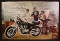 Magazine Ad For Kawasaki KZ750/4 LTD Motorcycle, Miss Cusick Warning Her School Girls, 1980