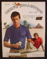 Magazine Ad For Camel Cigarettes John Henry Clothing Collection for Men, Pyramids, 1980