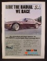 Magazine Ad For BF Goodrich Radial Y/A Tires, Trans Am Car, 1980, 8 1/8 by 10 7/8