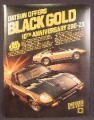 Magazine Ad For Black Gold 10th Anniversary Datsun 280-ZX Cars, 280 ZX, 1980, 8 1/8 by 10 7/8