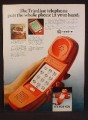 Magazine Ad For Western Electric Red Trimline Telephone, Slimline, 1980, 8 1/8 by 10 7/8