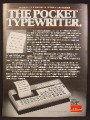 Magazine Ad For Sharp Pocket Typewriter, Memowriter EL-7000, EL 7000, 1980, 8 1/8 by 10 7/8