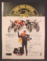 Magazine Ad For Harley Davidson Motorcycles, Early Bird Special, Get Harley Gear, 1981