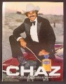 Magazine Ad For Chaz Fragrance, Cologne, Tom Selleck In Cowboy Hat, Celebrity, 1981