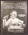 Magazine Ad For Hitachi Video Cassette Recorder, Star Wars Style Robot, 1981