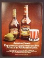 Magazine Ad For American Creme & Bailey's Liqueurs, Uncle Sam & Leprechaun Hat, 1982