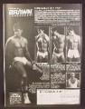 Magazine Ad For Brawn Undergear, Men's Underwear, Beefcake Models, 1982, 8 1/8 by 10 7/8