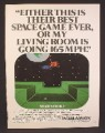 Magazine Ad For Intellivision Star Strike Game, Screen Shot, Best Space Game Ever, 1982