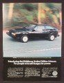 Magazine Ad For Volkswagen Wolfsburg Limited Edition Scirocco Car, Hungry For Power, 1983