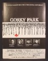 Magazine Ad For Gorky Park Movie, William Hurt, Lee Marvin, Joanna Pacula, 1984