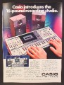 Magazine Ad For Casio KX-191 Keyboard, Sound System, Recording Studio, KX 101, 1984