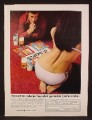 Magazine Ad For Colt 45 Beer, Bottoms Up Adult Game, Sexy Woman In Bikini, 1973