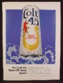 Magazine Ad For Colt 45 Malt Liquor, Beer Can, It's Colt 45 Take Off Time Again, 1970
