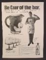 Magazine Ad For Gilbey's Vodka, Toby Mug, Martinski Glasses, Apron, Gilbeys, Czar Of The Bar, 1970