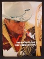 Magazine Ad For Marlboro Cigarettes, Cowboy In Snow, Snowshoe, 1971, 8 1/4 by 11 1/8
