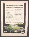 Magazine Ad For Dodge Chrysler Charger Topper Car, Green, Rear & Side View, 1971