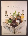 Magazine Ad For Bacardi Rum Bottles in Old Crate, Coca-Cola, Pepsi, A Party To Go, 1971