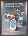 Magazine Ad For GE General Electric Clock Radios, Futuristic Styles, 4 Models, 1971