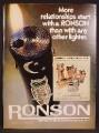 Magazine Ad For Ronson Varaflame Butane Lighters, Ladylite, Adonis, Whirlwind, Starfire, 1972