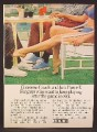 Magazine Ad For Converse Coach & Jack Purcell Sneakers, Runners, Shoes, Woman in Bikini, 1973