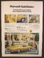 Magazine Ad For Plymouth Gold Duster Car, Vinyl Roof, Rear & Side View, 1973, 8 1/4 by 11 1/8,