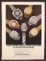Magazine Ad For Electronic Timex Watches, Watch, 7 Models With Model Numbers, 1973