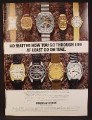 Magazine Ad For Bulova Accutron Watches, Watch, 9 Different Models Pictured, 1973