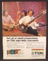 Magazine Ad For TDK High Mol Cassettes, Sitar Player, High-Mol, 1974, 8 1/4 by 11 1/8