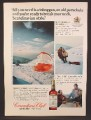 Magazine Ad For Canadian Club Whiskey, Riding A Toboggan Tied To A Parachute, 1974