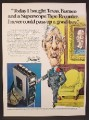 Magazine Ad For Marantz Superscope Tape Recorder, Cartoon Rich Man Figure, 1974