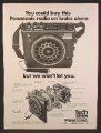 Magazine Ad For Panasonic Tech Series Radio, Dissected & Parts Named, 1974