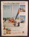 Magazine Ad For Canadian Club Whiskey, Desert Sailing On The Baja Sands, 1976, 8 1/8 by 10 7/8