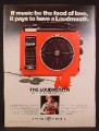 Magazine Ad For GE General Electric Portable 8 Track Player, The Loudmouth, 8-Track, 1976