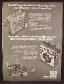 Magazine Ad For Panasonic Tech Series Radios, Model 800 & 1000, Fire Crime London Ships, 1977
