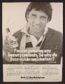 Magazine Ad For Brut 33 Skin Moisturizer, Joe Namath, Celebrity Endorsement, 1977