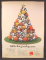 Magazine Ad For Voit Sports Equipment Piled In The Shape Of A Christmas Tree, Balls, 1977