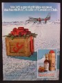 Magazine Ad For Canadian Club Whiskey, Left A Case At The North Pole, Whisky, 1979