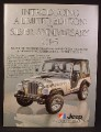 Magazine Ad For Jeep Renegade CJ-5 Limited Edition Silver Anniversary CJ5, CJ 5, 1979