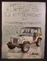 Magazine Ad For Jeep Renegade CJ-5 Limited Edition Silver Anniversary CJ5, CJ 5, 1979