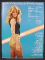 Magazine Ad For Goldengirl Movie, Susan Anton In Very Short Shorts, James Coburn, 1979