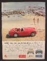 Magazine Ad For Austin Healey MK 3000 II Convertible Car, At Paradise Cove, California, 1961