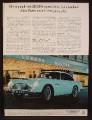Magazine Ad For Aston Martin DB5 Car In Front Of London Hilton Hotel, DB-5, 1964