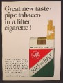 Magazine Ad For Half And Half Pipe Tobacco In A Filter Cigarette, Soft Pack, 1964, 8 3/8 by 11