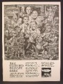 Magazine Ad For The Clancy Brothers Album, Glorious Belfast Bash, Cartoon By Jack Davis, 1964
