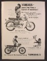 Magazine Ad For Yamaha Rotary Jet 80 Motorcycle, Walt Disney Movie, The Monkey's Uncle, 1964
