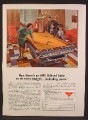 Magazine Ad For AMF Billiard Table, Pool Table, Orange Felt, Basement Rec Room, 1964